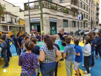 Ping pong all'aperto: mappa dei tavoli